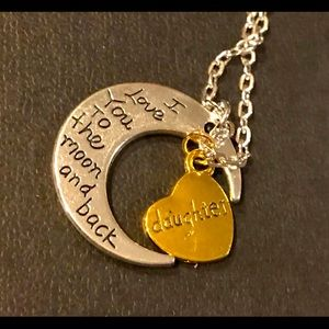NWT- To the Moon & Back Daughter Necklace